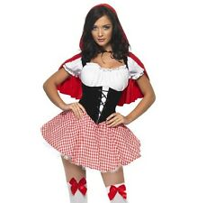 Ladies Fever Little Red Riding Hood Fancy Dress Costume S M & L 1st Class Postge