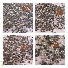 Hotfix Iron On Grade A Faceted Round Rhinestones Crystal Diamante Gems