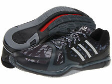 New 11 adidas Workout A.T. SPEEDCUT Training Shoes Black Yellow Cross Running AT