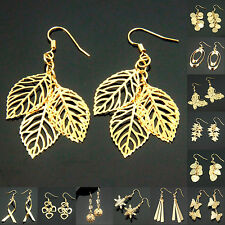 Fashion Stylish 18K Gold Plated Drop Dangle Earrings for Wedding Party