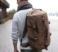 Hot Sell Men Vintage Canvas Leather Hiking Travel Military Messenger Tote Bag