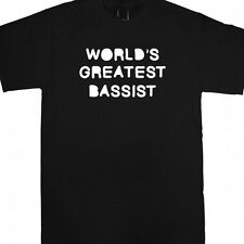 WORLDS GREATEST BASSIST PERSONALISED XMAS GIFT T SHIRT bass player present