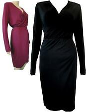 Jersey Wrap / Hour Glass / Figure Hugging Long Sleeved Formal / Evening Dress