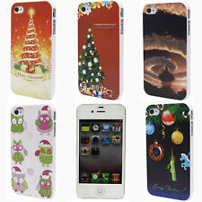 Christmas Tree Gifts Owl Cloud Mark Hard Back Shield Case Cover for iPhone 4 4S