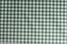 GREEN GINGHAM CHECK VINYL PVC OILCLOTH WIPE CLEAN TABLECLOTH CO click for sizes