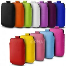 PU Leather Pull Tab Pouch Case Cover for Various Motorola Mobile Phones