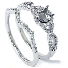 .40CT Infinity Intertwined Engagement Wedding Ring Setting Gold Semi Mount 14 KT