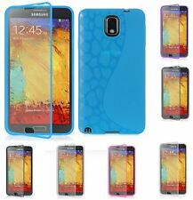 For Samsung Galaxy Note 3 Multi Color S Shape Spot TPU Built in Screen Protector