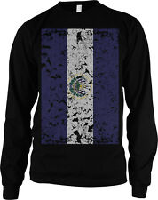 Giant Distressed El Salvador Flag National Pride Soccer Olympics Mens Thermal