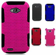 For ZTE Savvy Z750C Multi Color Perforated Soft Hard Case Protector Accessory