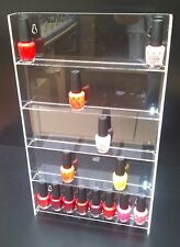 WALL MOUNTED NAIL POLISH ACRYLIC STAND HOLDS APPROX 40 TO 50  BOTTLES (ECO WALL