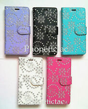 Bling Diamond Flip Leather Wallet Case Cover For Various Samsung Mobile Phones
