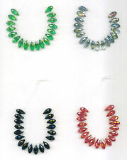 Crystal Faceted Top-Drilled Teardrop Beads 12mm x 6mm