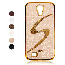 New S Pattern Skin Golden Edge Hard Case Cover for Samsung Galaxy S4 IV i9500