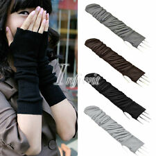 Fashionable Winter Autumn Arm Warmers Knit Fingerless Gloves Mittens Elbow Long