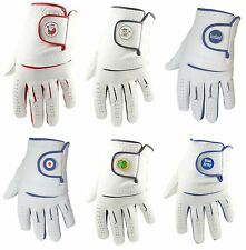 Mens Cabretta Leather Golf Glove + Novelty Ball Marker