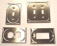 Metal Wall Plate Single Double Switch Duplex Outlet Cover Cambray Satin Nickel