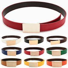 Cool Stylish Chic Unisex Mens PU Leather Alloy Buckle Waist Belt Waistband #RM