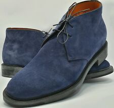 NEW SANTONI CHAMOIS MEN SUEDE SHOE MADE IN ITALY