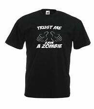 TRUST ME IM A ZOMBIE game funny NEW Boy Girls size T SHIRT TOP Age 1-15 Years