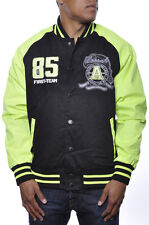 Smoke Rise Premium Royal Elite Leader Varsity Letterman Patch Jacket Neon