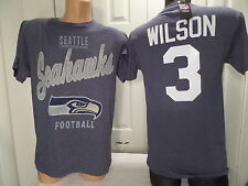4815 MENS Apparel Seattle Seahawks RUSSELL WILSON Football Jersey Shirt BLUE