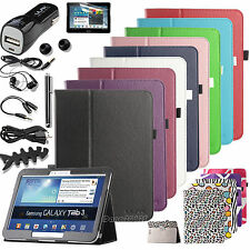 Folio PU Leather Case Cover for Samsung Galaxy Tab 3 10.1 10 inch P5210/P5200
