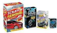 ALLOY WHEEL CLEANING / WAX POLISH / TYRE BLACK / SCRATCH REMOVAL KIT CAR CARE