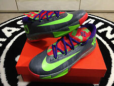 Nike KD VI 6 Energy Sz 4-7y GS Kids Cool Grey Electric Green Durant 599477-004