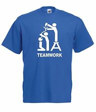 TEAM WORK funny present NEW Men Women T SHIRTS TOP size 8 10 12 14 s m l xl xxL