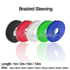 1/2/5/10M 4-30mm Expandable Braided Sleeving Cable Harnessing Sheathing Sleeve