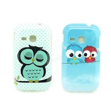 2 Type Select Owl TPU IMD Gel Soft Case For Samsung Galaxy Young S6310 S6310N