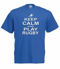 KEEP CALM RUGBY funny sport NEW Men Women T SHIRTS TOP size 8 10 12 14 s m l xl