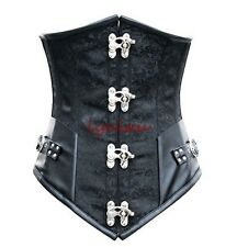 Sexy Brocade Gothic lace up Boned Steampunk Rock Underbust Corset