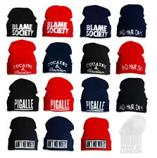 Pigalle Cocaine & Caviar Ain't No Wifey Blame Society Bad Hair Day Beanie Hat