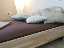 Real Wood Bed 160x200 Double Bed Solid Heart Ash Compact 27mm