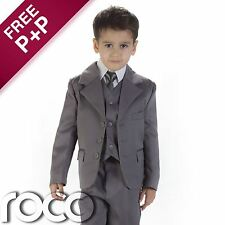 Baby Boys Grey Suit, Page Boy Suits, Baby Boys Wedding Suit, Baby Boys Suits