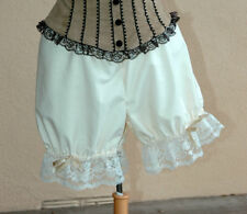 Ivory Can Can Dance Victorian Bloomers Knickers PolyCotton Rockabilly Panties