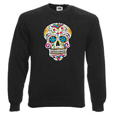 Sugar Skull Sweatshirt, Emo/Horror - Choice of size & colours. Candy Skull