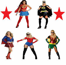 Ladies Superhero Fancy Dress Costume Outfit Supergirl Sexy Adult Bat Woman 8 10