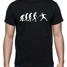 EVOLUTION OF JAVELIN TSHIRT T SHIRT XL XXL XXXL SPIKES SPEARS SHOES THROWING NEW