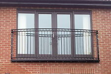 Curved juliet balcony balustrade  railing - Wrought iron steel 'Lancaster'