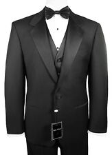 Sizes 34-50 Short. 6-Piece Complete Tuxedo Package with Flat Front Pants & Vest