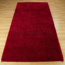 Super Shaggy Rugs - Red | A High Pile Quality Plain Shag Pile Rug Large Sizes