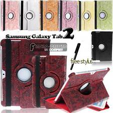 "Rotating Stand Flower Leather Case Cover for Samsung Galaxy Tab 2 7.0 "" 10.1"""