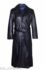 Men's Blade Wesley Snipes Black Full Length Real Leather Long Jacket Coat