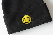 Smiley Beanie Ski Hat Happy Party Tumblr Alternative Hipster Dope Cool Gift B64