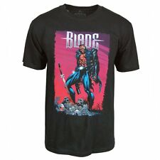 Mens Licensed Blade Vampire Hunter T Shirt Black NEW