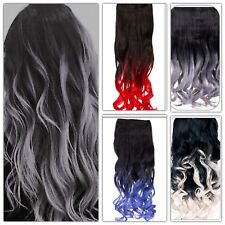 "ONE PIECE CURLY CLIP IN HAIR EXTENSION WEFT 18-20"" LENGTH"