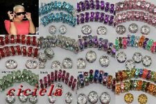 100,500Pcs Basketball Wives Earrings Spacer Rhinestone Rondelle Beads